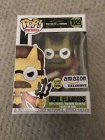 Devil Flanders Funko Pop 1029 Amazon Exclusive GITD Simpsons Treehouse Of Horror