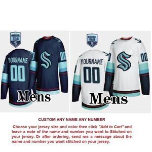 Custom Any Name Number 2021-22 Inaugural Season Seattle Kraken Ice Hockey Jersey