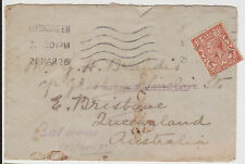 (GBD154) 1926 GB 1½d brown KGV on cover