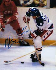 GFA 1980 Miracle on Ice Captain * MIKE ERUZIONE * Signed 8x10 Photo M4 COA
