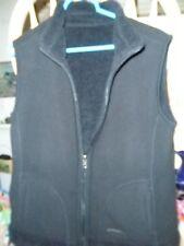 Ladies High End Winter Warm Polar Fleece Smooth Rough Reversible BLACK VEST L