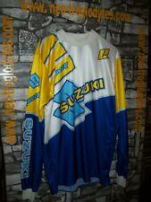 Vintage Suzuki racing team motocross technical jersey shirt trikot maillot '80s