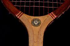 New listing Antique Wood 1920 N J Magnan Varsity Tennis Racket Intact Original Strings