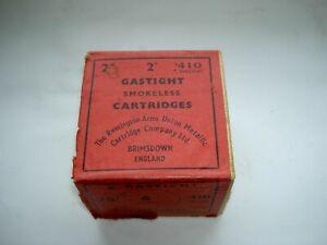 Vintage Remington 410 Empty Cartridge Box Brimsdown England