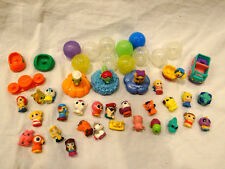 45 pc Lot of Squinkies Squishy Toys Shopkins Mini Figures Balls Stands Animals
