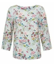 BNWT Monsoon Womens Fauna Floral Print Elegant Top Blouse Size 8 UK