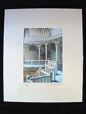 P.A.ST.A Fine Arts ~ Zig Zag Bannister Matted Photograph ~St. Augustine ~ 8 x 10