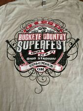 Rare Women's Medium Buckeye Country Super fest 2015 Rascal Flatts Blake Shelton