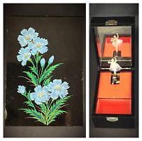 Superbe et Ancien coffret à bijoux / boite à musique - Bois laqué automate JAPON