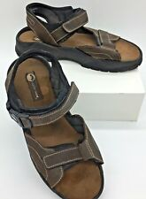 c9e559b50667 Earth Shoe Stream Men s Brown Leather Sport Hiking Sandals Size 13
