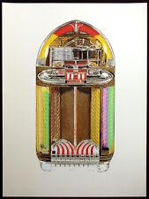 "Dallas John ""Wurlitzer 1100"" Signed Ltd Ed Serigraph Artwork old jukebox records"