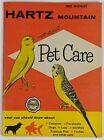 Hartz Mountain Vintage Pet Care Booklet Parakeet Canary Bird Fish Turtle Food