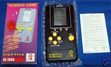 EINSTEIN ELECTRONIC HANDHELD POCKET BRICK MIND GAME BOX NUMBER MINI TRAVEL FUN