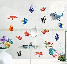 FINDING NEMO Fish Wall Stickers Art Paper Sea Bathroom Decal Nursery Baby Room