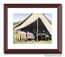 "Lincoln McClellen Antietam 11x14"" Framed Photo Print Color Civil War ID-01131"
