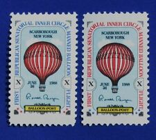 RONALD REAGAN Privately Issued Signed Balloon Stamps
