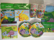 JUNGLE BUDDIES Birthday Party Supply DELUXE Kit w/ Bags, Invites & Safari Cups