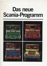 Prospekt 1980 Scania Lkw Das neue Programm 12 80 truck brochure broschyr