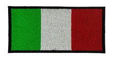 ITALIA BANDIERA TOPPA PATCH RICAMATA CM 6X4cm TOPPE PATCH STEMMA BORDADO
