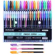 48 Unique Colors (No Duplicates) Gel Pens Gel  Pen Set for Adult Coloring Book