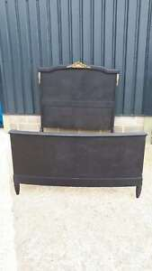 Majestic Vintage French Painted Double Bed with base.