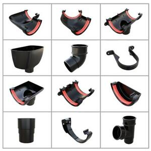 Black Round 112mm Guttering & Downpipe Fittings, Freeflow Rain Water Systems