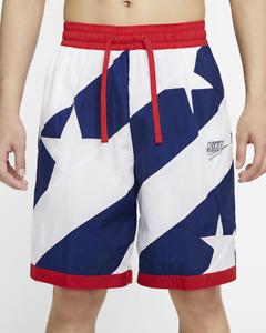 Nike Dri-Fit Throwback Basketball Shorts Men's Red White Blue SZ L CK6311 492