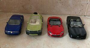 Lotto Burago 1/43 - Land rover, Corvette, Dodge, Alfa Romeo - VINTAGE