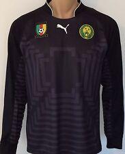 Puma Cameroon Goal Keeper Shirt Gr. L Kamerun Herren Torwart Trikot Black Neu
