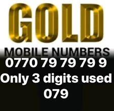 RARE VIP GOLD DIAMOND PLATINUM MOBILE PHONE EASY NUMBER BUSINESS SIM CARD 797979