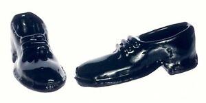 Men's Shoes, Dolls House Miniatures, Accessory, 1:12 Scale
