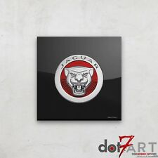 Jaguar Badge Luxury Black Open Edition Print