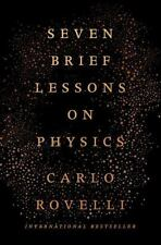 7 Seven Brief Lessons on Physics by Carlo Rovelli Book 2016 Hardcover Hardback