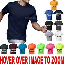 Mens Athletic T-Shirt Force Exercise Running Moisture Wicking XS-XL, 2X, 3X, 4X