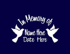 In Memory of Memorial Decal Dove Vinyl Stickers