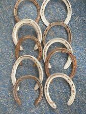 10 Used Horseshoes Steel Aluminum Cowboy Western Decor Upcycle Craft Projects
