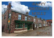 LARGE A5 GLOSSY PERSONALISED CORONATION STREET BIRTHDAY CARD
