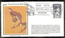 US Scott # 2046 Babe Ruth. Baltimore cancel On day of issue. Colorano Silk