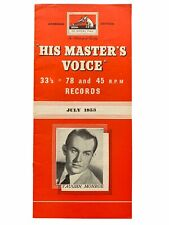 More details for vaughn monroe july 1953 his master's voice new records overseas ed 78 45 lp's
