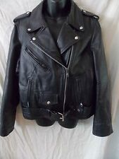 Leather Gallery Black Motorcycle Bike Jacket Thinsulate 3M XL Extra Large lined
