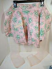 Pink reversible Scalloped Hem Handcrafted  ½ Apron  Vintage  Clean & Crisp