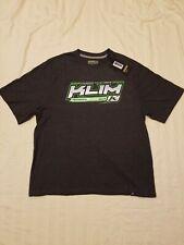 KLIM Technical Riding Gear Gray Green Short Sleeve Graphic T-Shirt Mens XL