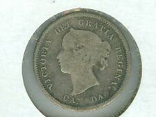CANADA 1872-H FIVE CENT SILVER--CIRCULATED