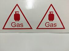 gas bottle 2 X Caravan Camper van Vinyl Sticker Gas Vinyl Sticker LPG