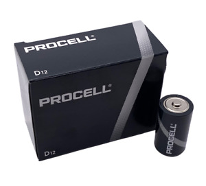 Duracell Procell D Alkaline Batteries 1.5V PC1300 USA 12 Count Expires 2026
