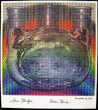 Shulgin blotter art signed by both Ann Sasha PIHKAL TIHKAL