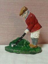 Vintage Heavy Cast Iron Golfer