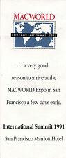 VINTAGE (1991)  BROCHURE:  MACWORLD INTERNATIONAL SUMMIT (SOME APPLE SPEAKERS)