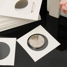 50pcs Coin Holders 2 X 2 Cardboard Mylar Flips Diameter 40 mm Perfect