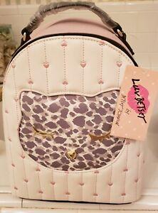 NWT Luv Betsey Johnson Smitten Kitten Mini Backpack, Beautiful Bag, Hard to Find